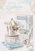 Godson On Your Christening Day Card